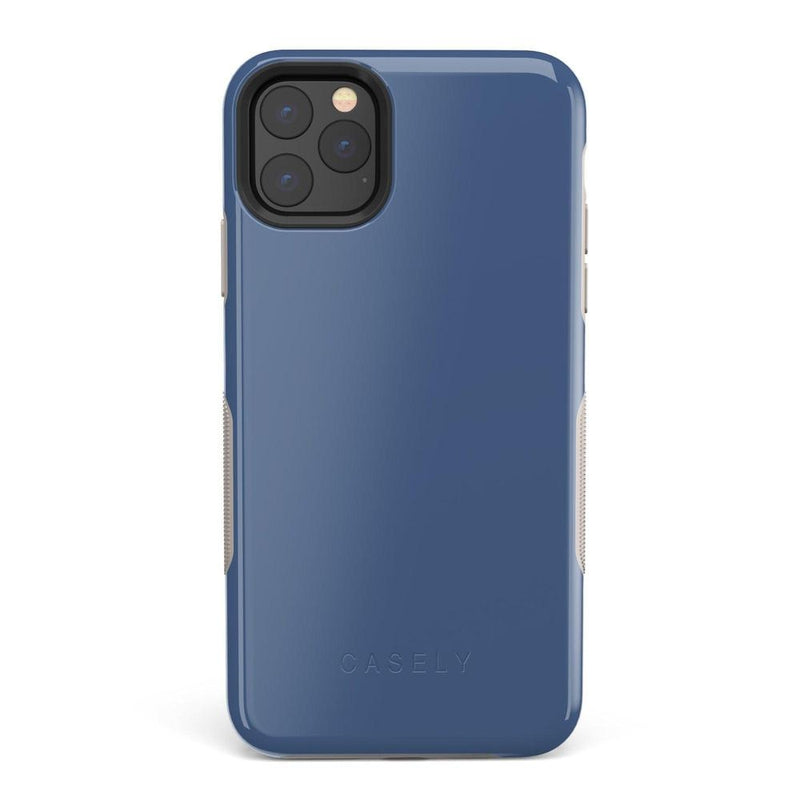 The Bold Collection - Steel Blue on Nude iPhone Case get.casely Bold iPhone 11 Pro