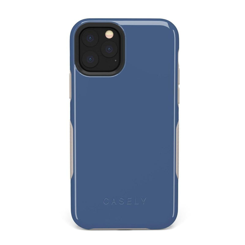 The Bold Collection - Steel Blue on Nude iPhone Case get.casely Bold iPhone 11 Pro Max