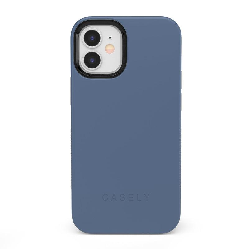 The Bold Collection - Steel Blue on Nude iPhone Case get.casely Bold iPhone 12 Mini