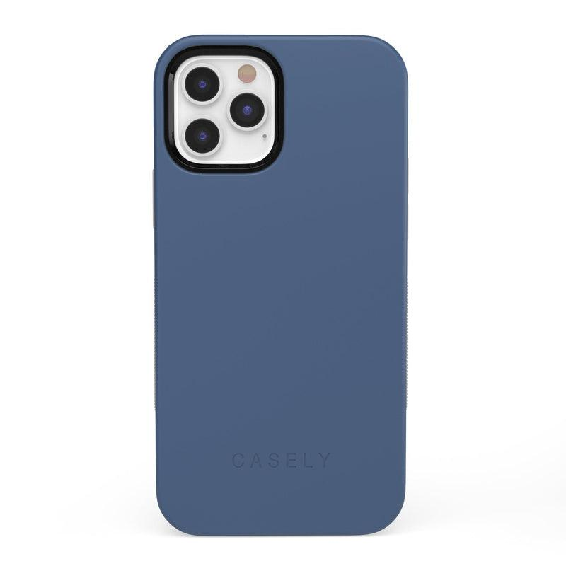 The Bold Collection - Steel Blue on Nude iPhone Case get.casely Bold iPhone 12 Pro
