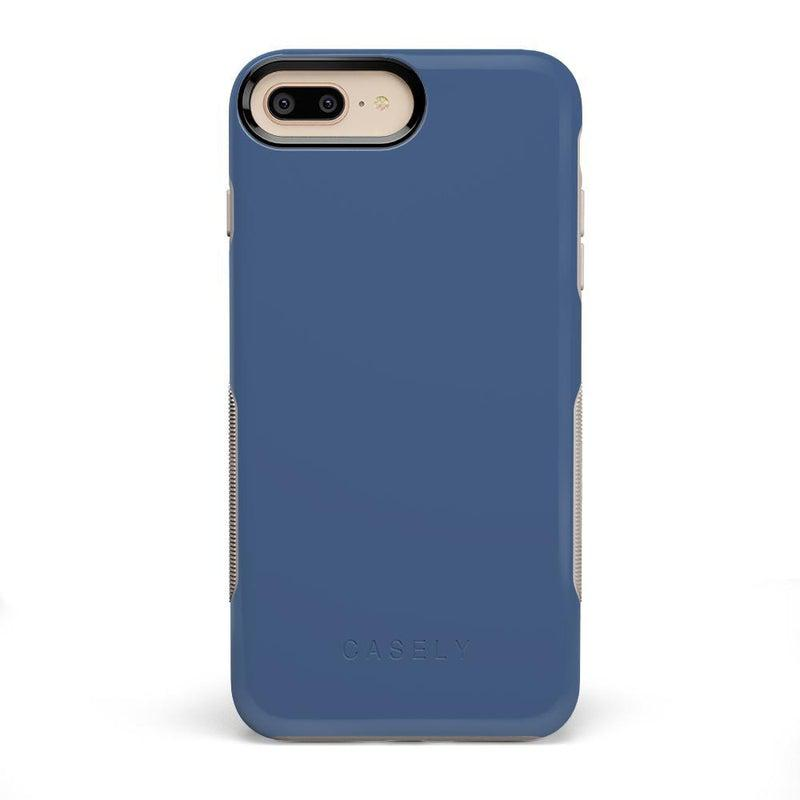 The Bold Collection - Steel Blue on Nude iPhone Case get.casely Bold iPhone 6/6s Plus