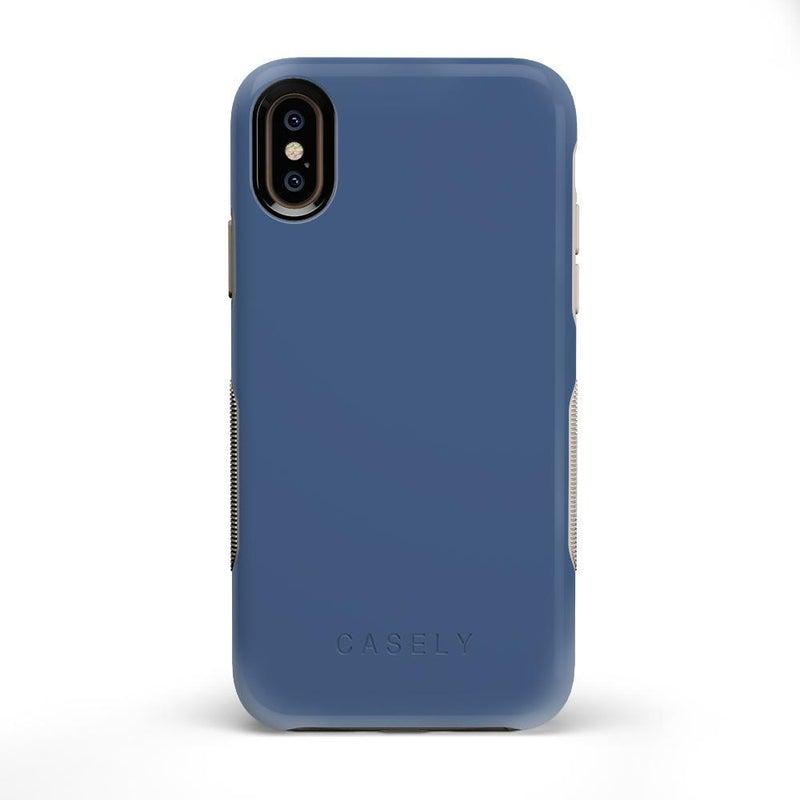 The Bold Collection - Steel Blue on Nude iPhone Case get.casely Bold iPhone X / XS