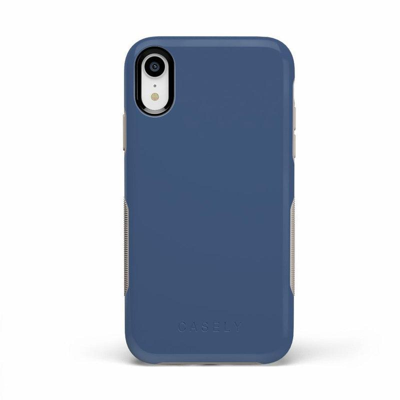 The Bold Collection - Steel Blue on Nude iPhone Case get.casely Bold iPhone XR