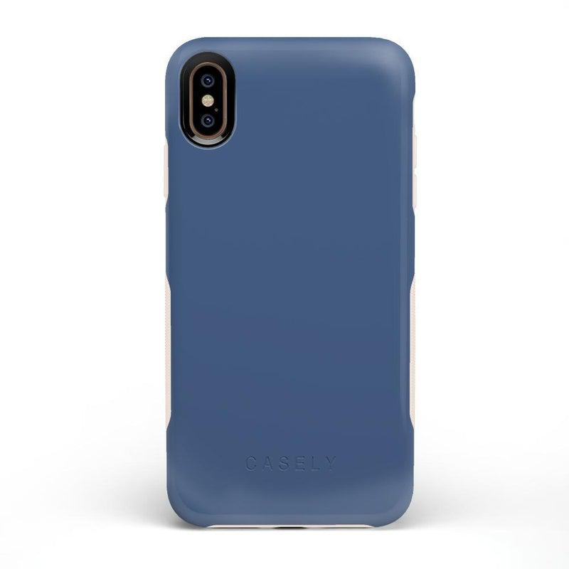 The Bold Collection - Steel Blue on Nude iPhone Case get.casely Bold iPhone XS Max
