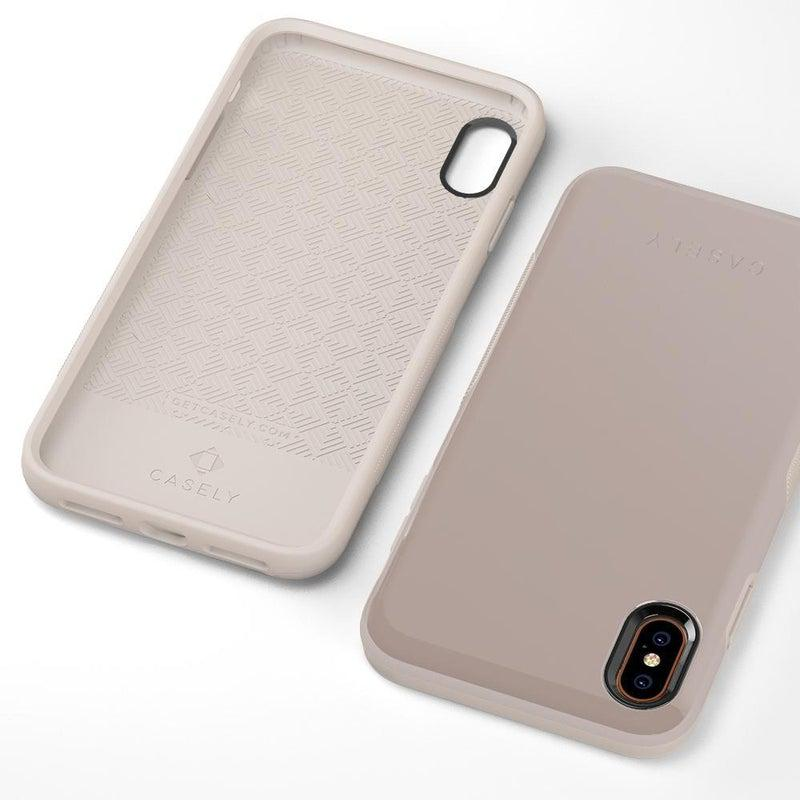 The Bold Collection - Taupe on Nude iPhone Case get.casely