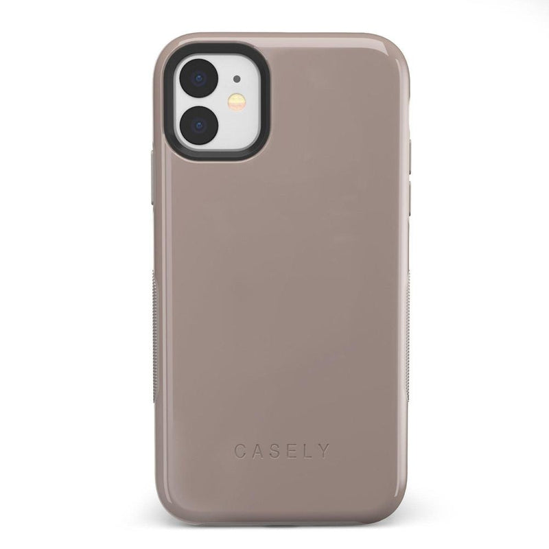 The Bold Collection - Taupe on Nude iPhone Case get.casely Bold iPhone 11