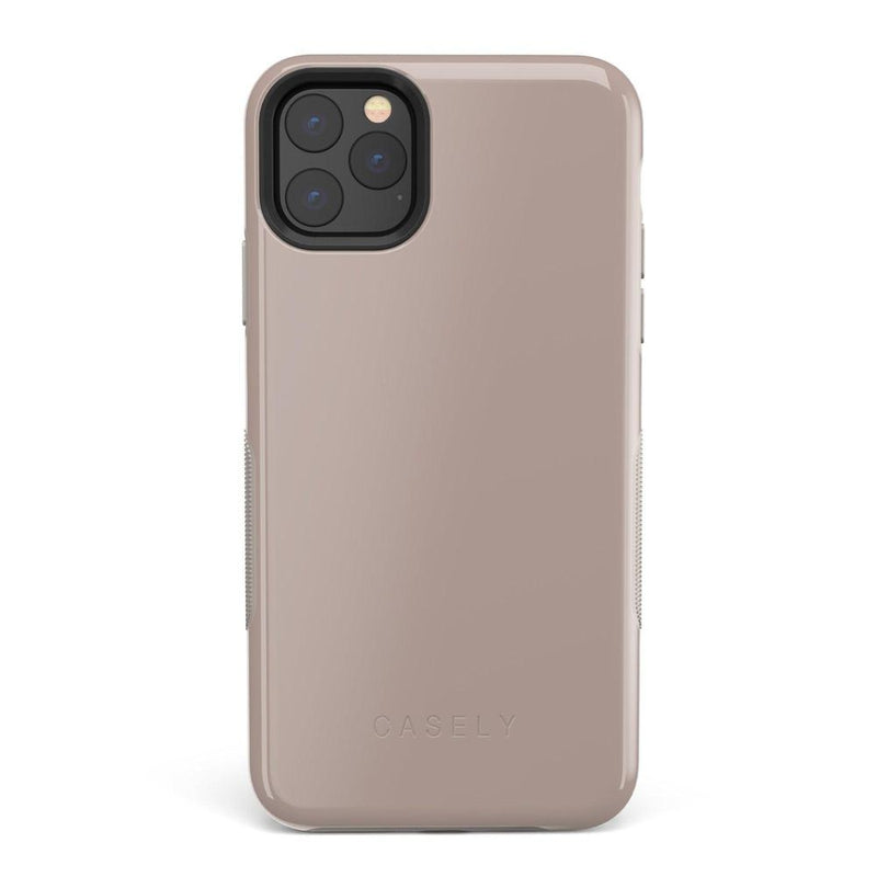 The Bold Collection - Taupe on Nude iPhone Case get.casely Bold iPhone 11 Pro