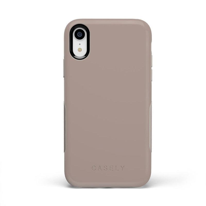 The Bold Collection - Taupe on Nude iPhone Case get.casely Bold iPhone XR