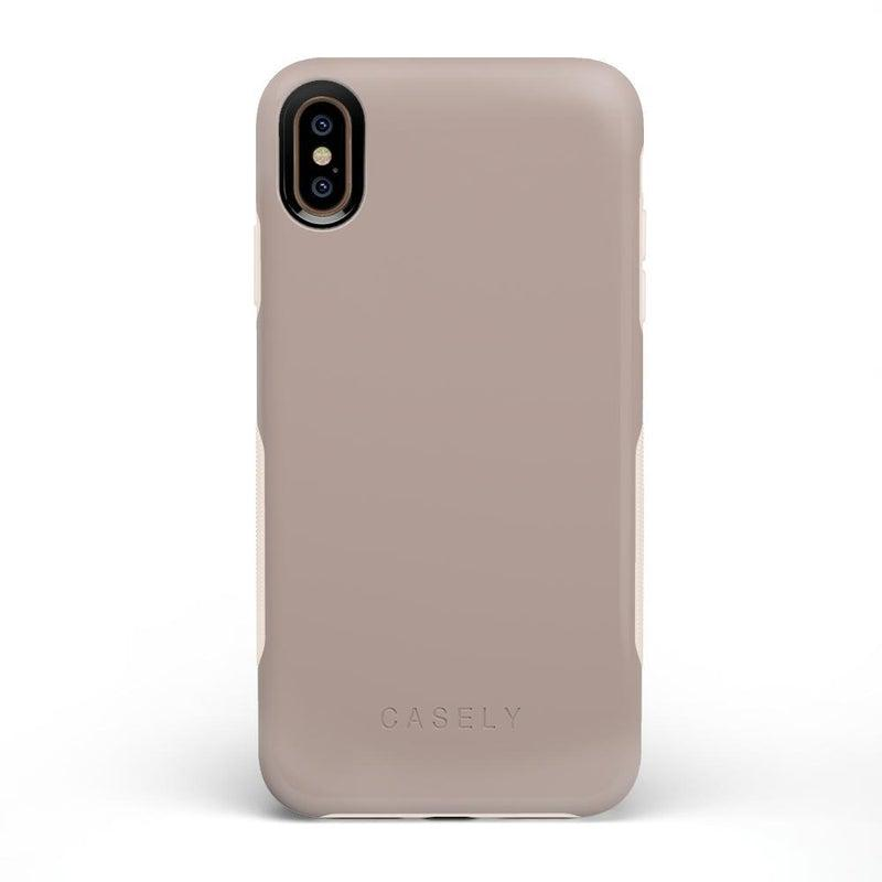 The Bold Collection - Taupe on Nude iPhone Case get.casely Bold iPhone XS Max