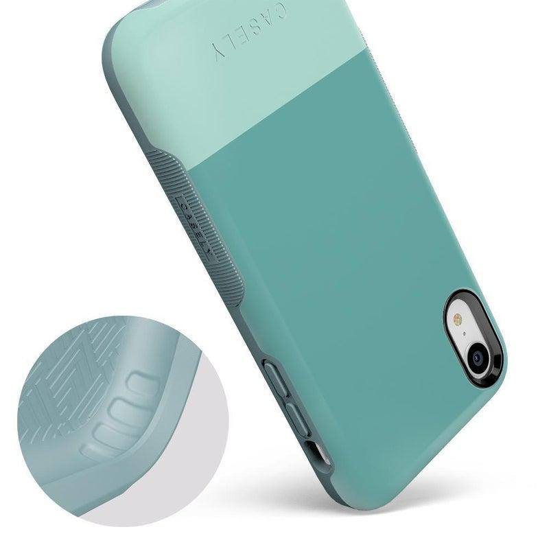 The Bold Collection - Teal Color Block on Aqua Mint iPhone Case get.casely