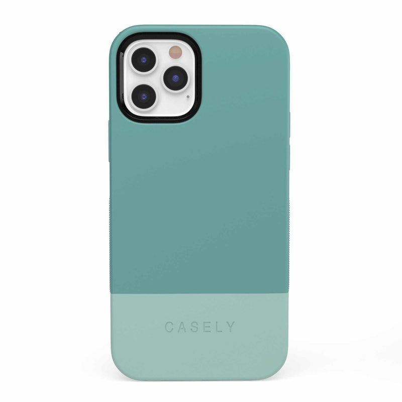 The Bold Collection - Teal Color Block on Aqua Mint iPhone Case get.casely Bold iPhone 12 Pro
