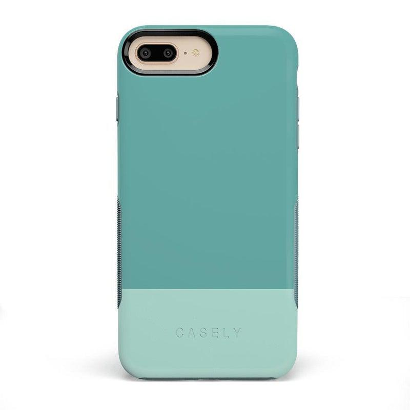 The Bold Collection - Teal Color Block on Aqua Mint iPhone Case get.casely Bold iPhone 6/6s Plus