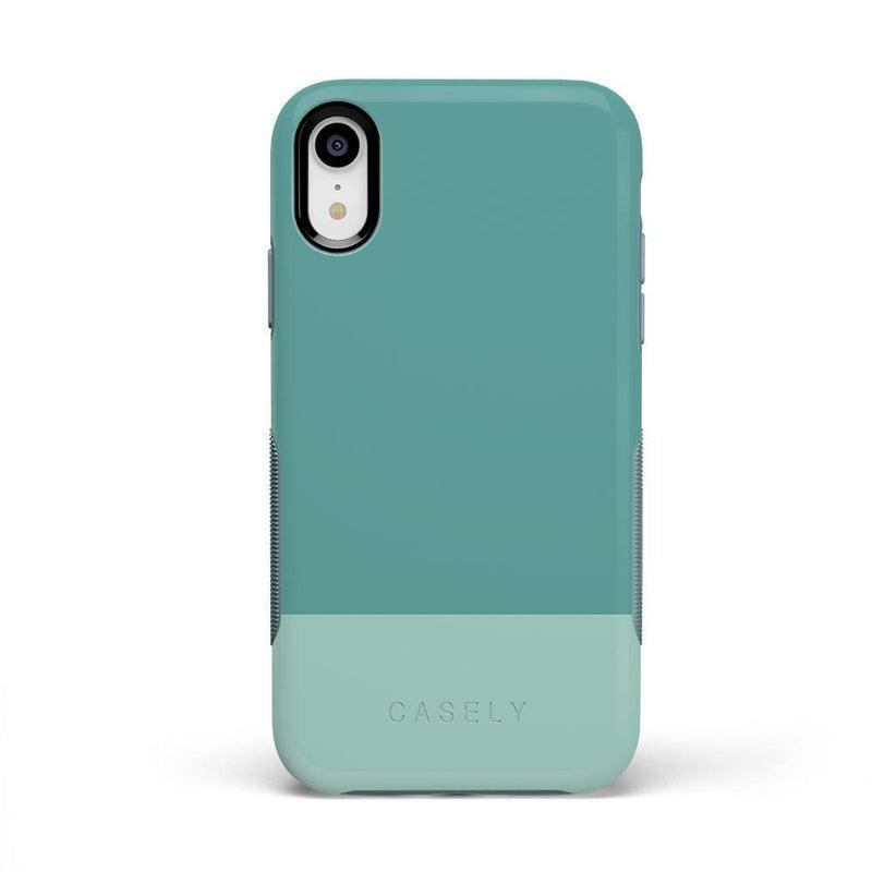 The Bold Collection - Teal Color Block on Aqua Mint iPhone Case get.casely Bold iPhone XR