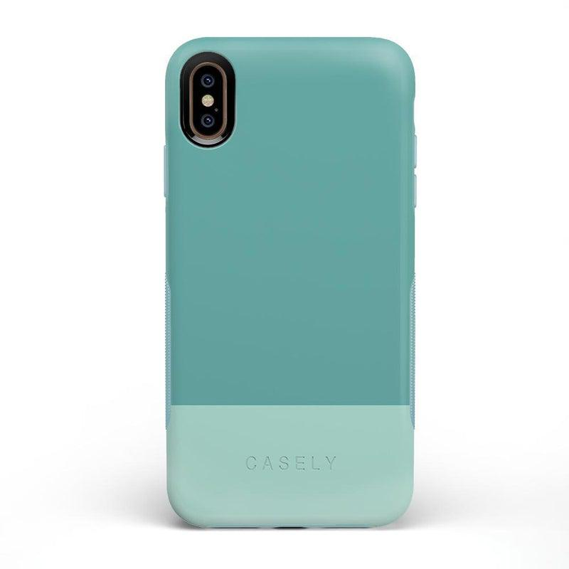 The Bold Collection - Teal Color Block on Aqua Mint iPhone Case get.casely Bold iPhone XS Max