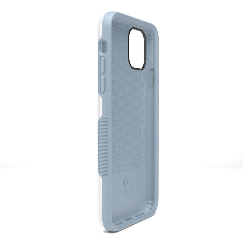 The Bold Collection - White on Light Blue iPhone Case get.casely