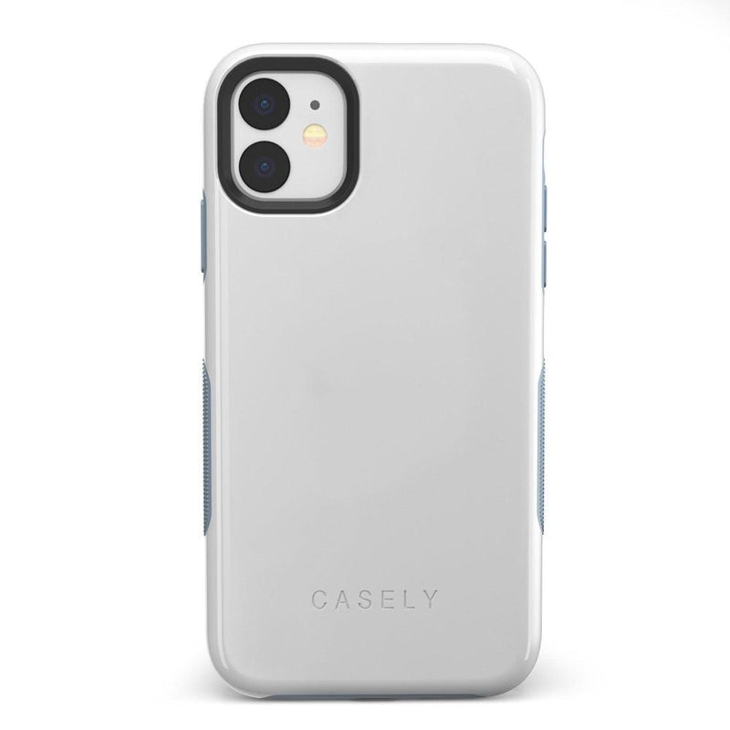 The Bold Collection - White on Light Blue iPhone Case get.casely Bold iPhone 11