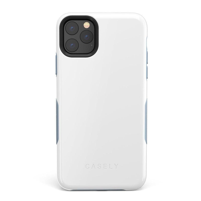 The Bold Collection - White on Light Blue iPhone Case get.casely Bold iPhone 11 Pro