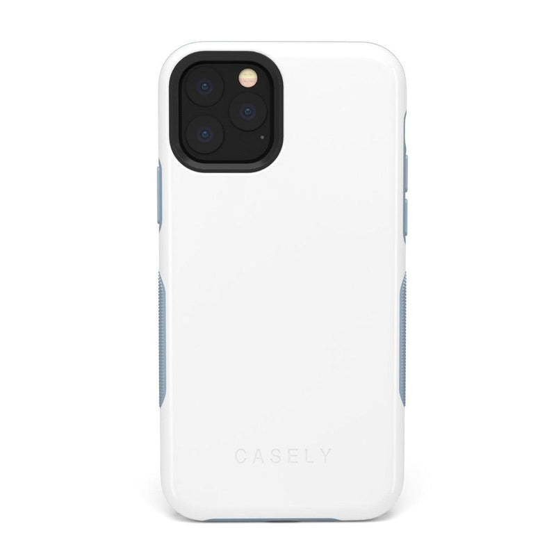 The Bold Collection - White on Light Blue iPhone Case get.casely Bold iPhone 11 Pro Max
