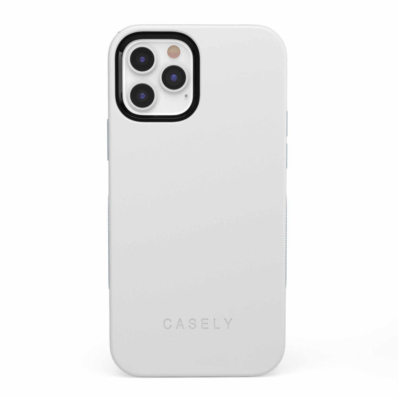 The Bold Collection - White on Light Blue iPhone Case get.casely Bold iPhone 12 Pro