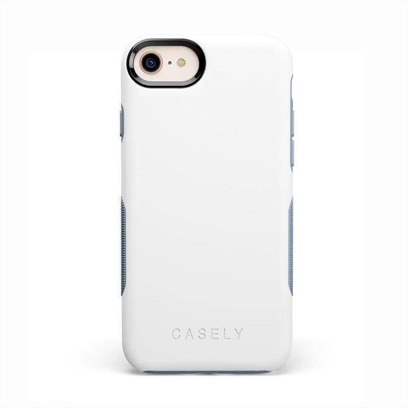 The Bold Collection - White on Light Blue iPhone Case get.casely Bold iPhone 6/6s