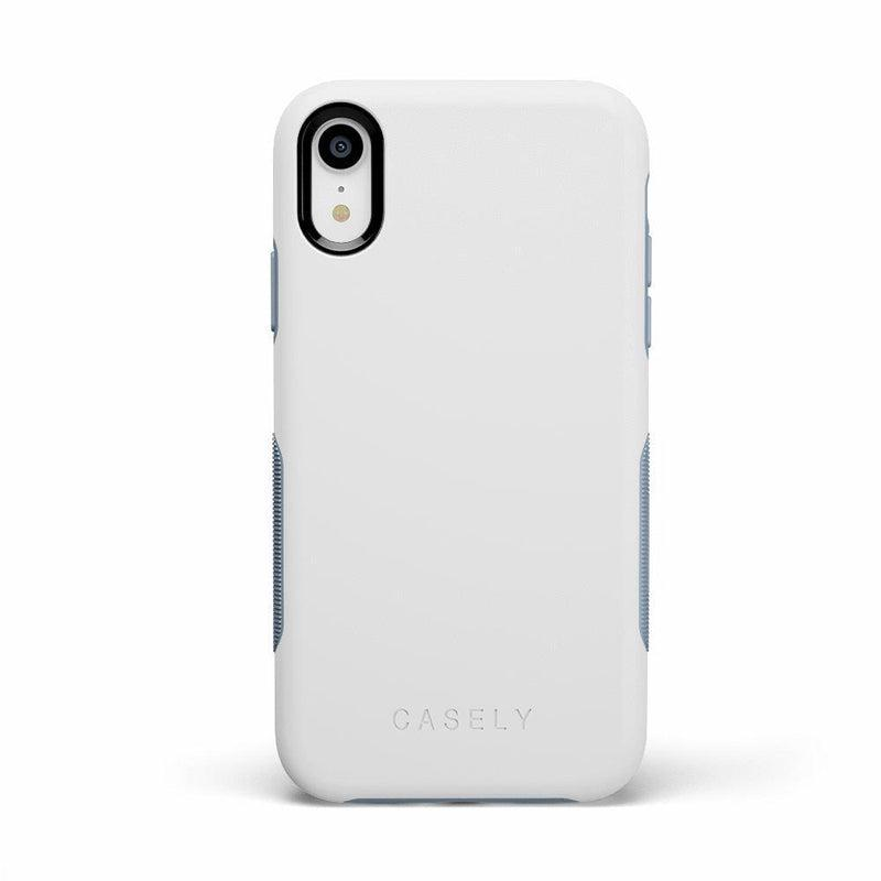 The Bold Collection - White on Light Blue iPhone Case get.casely Bold iPhone XR