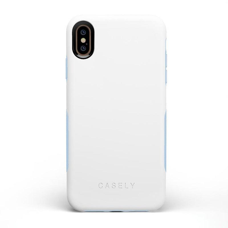 The Bold Collection - White on Light Blue iPhone Case get.casely Bold iPhone XS Max
