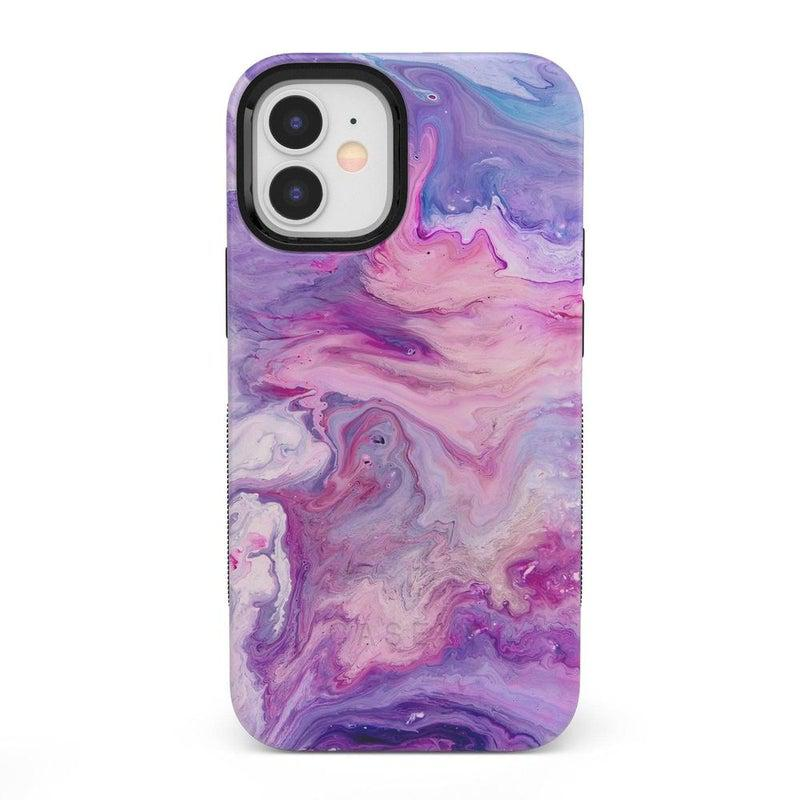 Tie Dying Over You Purple Marble iPhone Case iPhone Case get.casely Bold + MagSafe® iPhone 12 Mini
