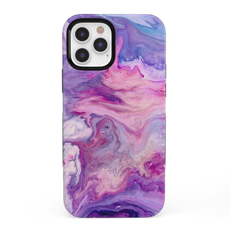 Tie Dying Over You Purple Marble iPhone Case iPhone Case get.casely Bold + MagSafe® iPhone 12 Pro