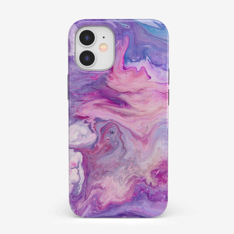 Tie Dying Over You Purple Marble iPhone Case iPhone Case get.casely Classic iPhone 12 Mini