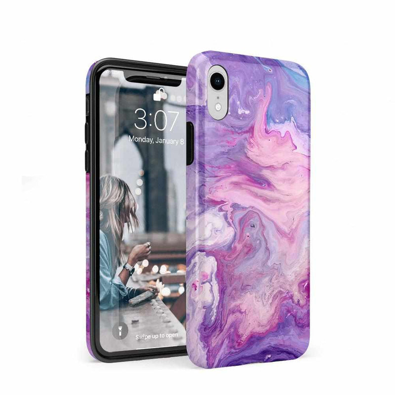Tie Dying Over You Purple Marble iPhone Case iPhone Case get.casely Classic iPhone XR