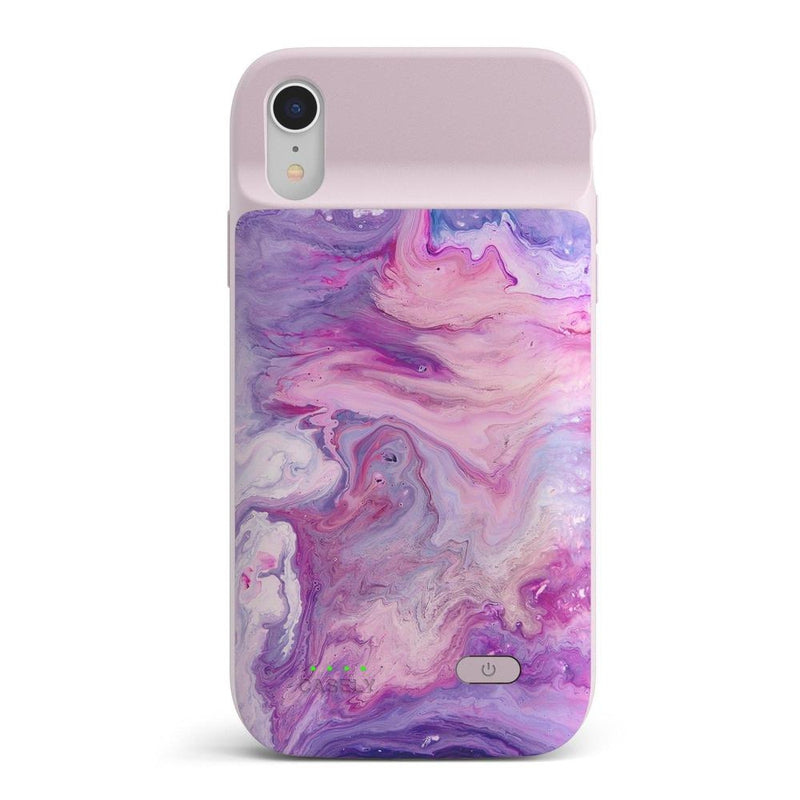 Tie Dying Over You Purple Marble iPhone Case iPhone Case get.casely Power 2.0 iPhone XR