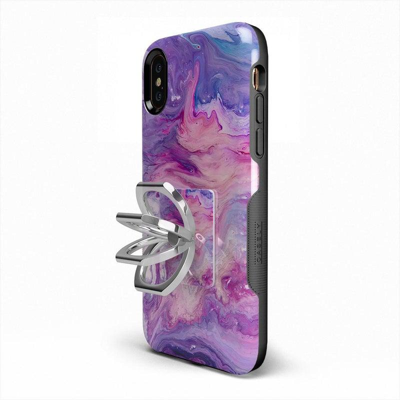 Tie Dying Over You Purple Marble Phone Ring Phone Ring Get.Casely