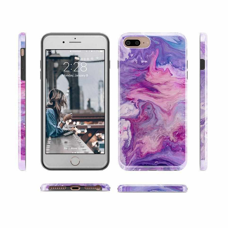 Tie Dying Over Your Purple Marble iPhone Case iPhone Case get.casely
