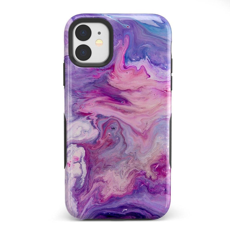 Tie Dying Over Your Purple Marble iPhone Case iPhone Case get.casely Bold iPhone 11