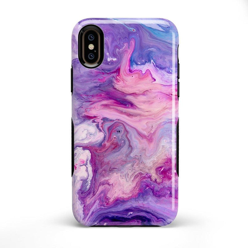 Tie Dying Over Your Purple Marble iPhone Case iPhone Case get.casely Bold iPhone X / XS