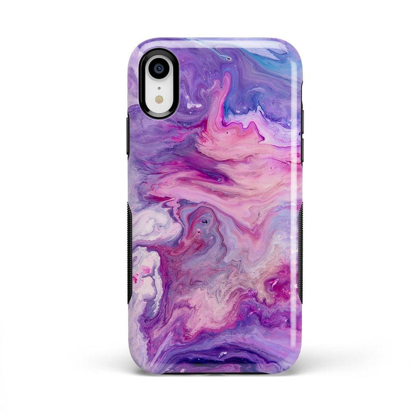 Tie Dying Over Your Purple Marble iPhone Case iPhone Case get.casely Bold iPhone XR