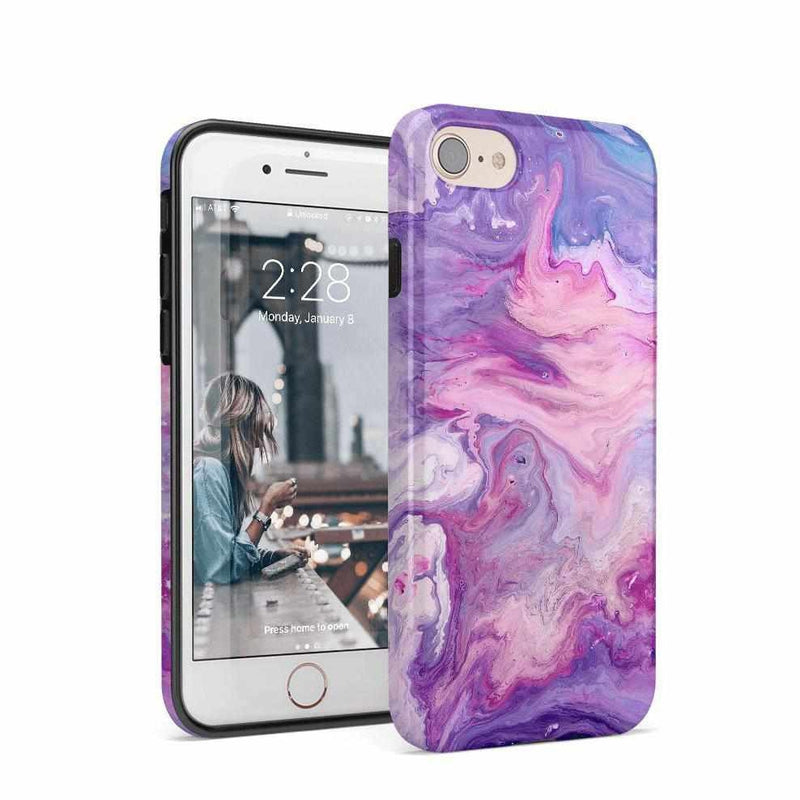 Tie Dying Over Your Purple Marble iPhone Case iPhone Case get.casely Classic iPhone 8
