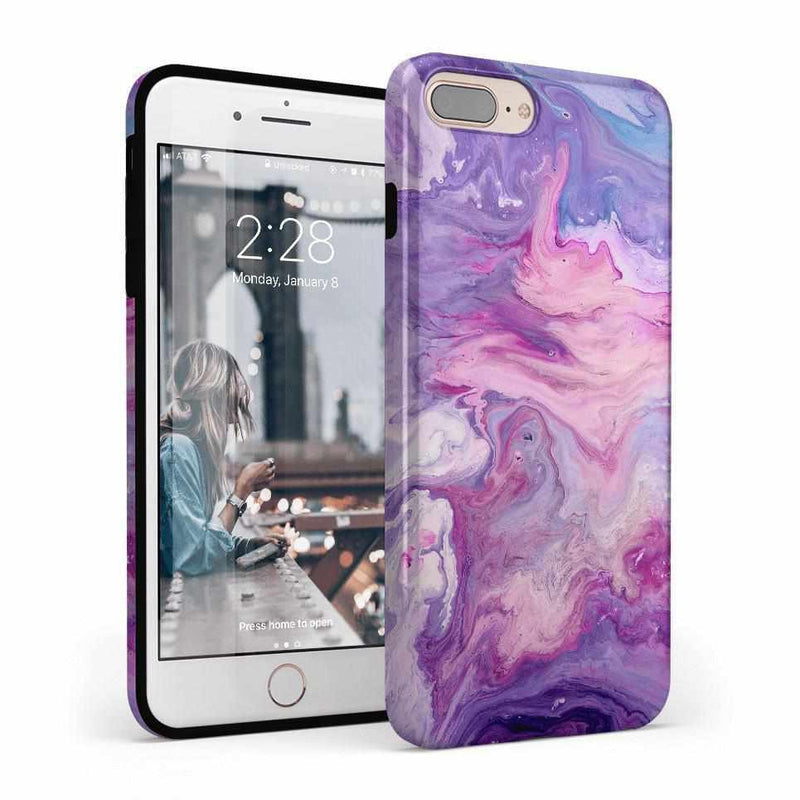 Tie Dying Over Your Purple Marble iPhone Case iPhone Case get.casely Classic iPhone 8 Plus