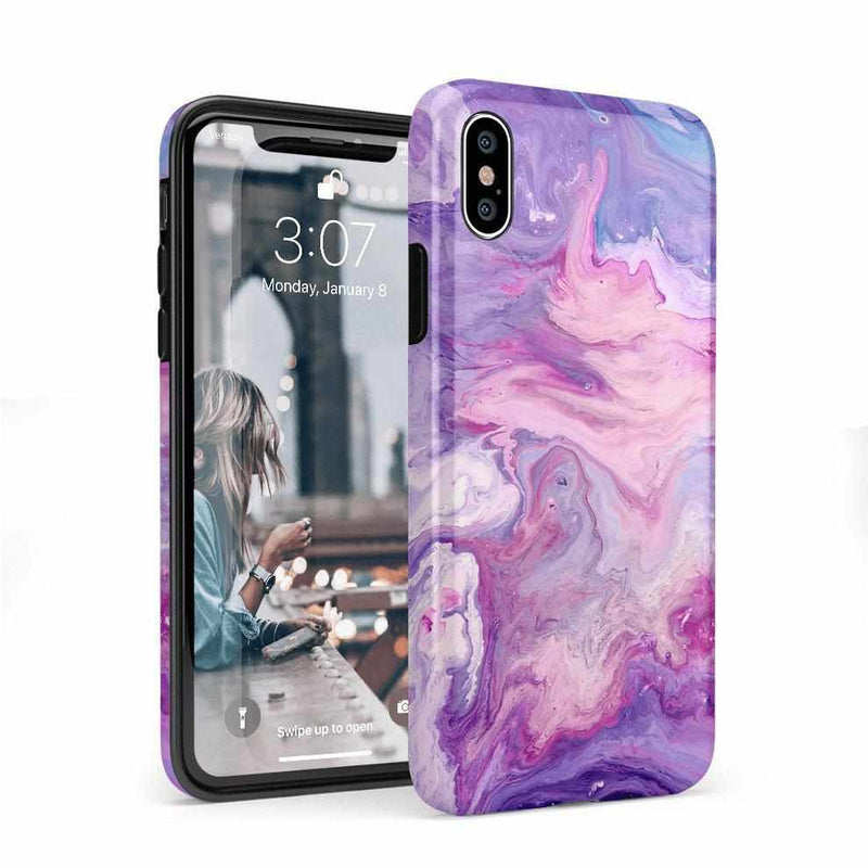 Tie Dying Over Your Purple Marble iPhone Case iPhone Case get.casely Classic iPhone X / XS