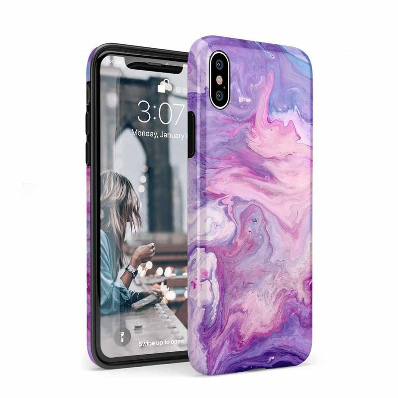Tie Dying Over Your Purple Marble iPhone Case iPhone Case get.casely Classic iPhone XS Max