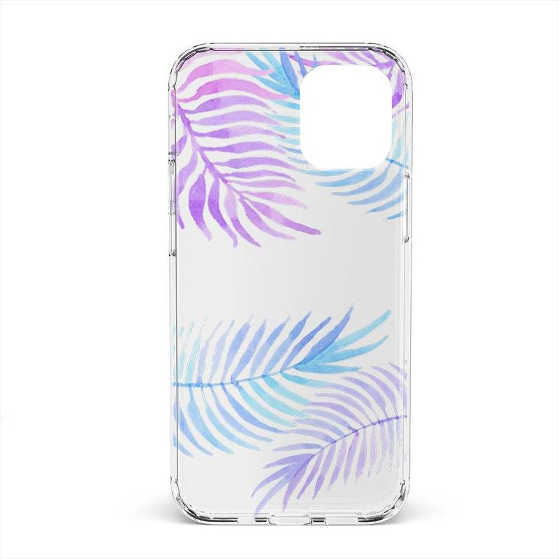 Tropical Blue Palm Leaves iPhone Case iPhone Case get.casely