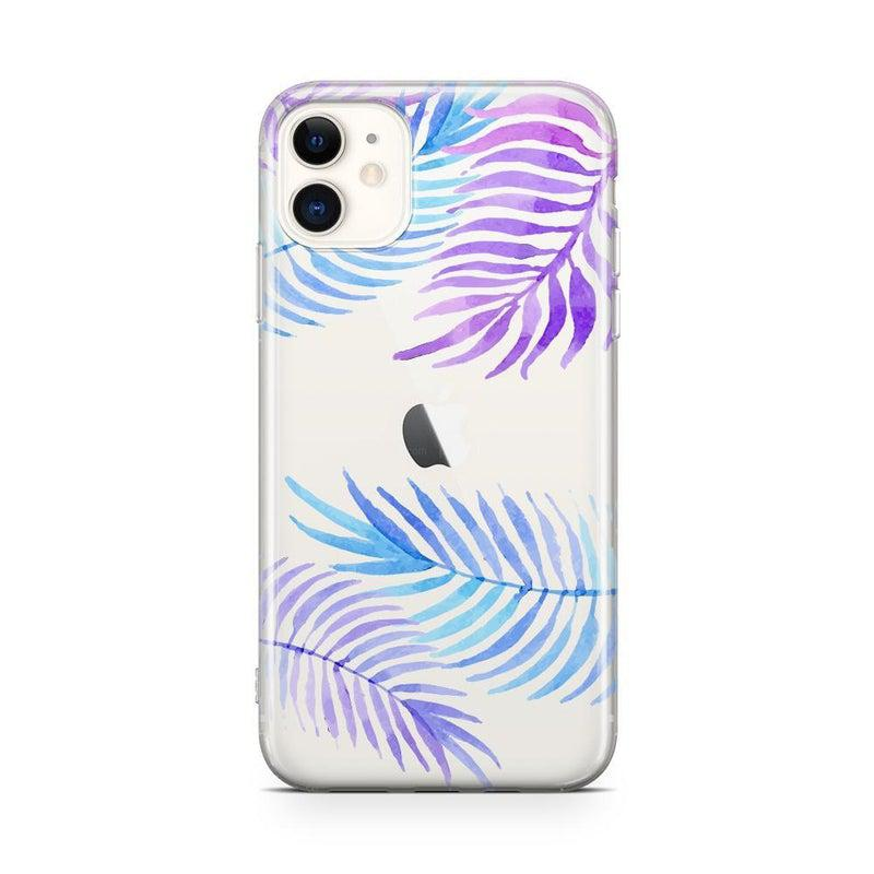Tropical Blue Palm Leaves iPhone Case iPhone Case Get.Casely Classic iPhone 11