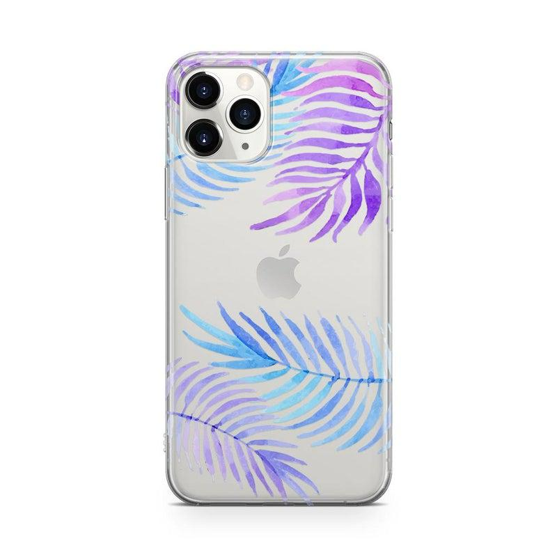 Tropical Blue Palm Leaves iPhone Case iPhone Case Get.Casely Classic iPhone 11 Pro