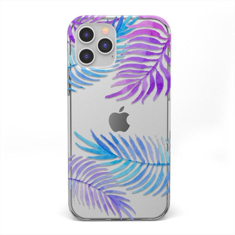 Tropical Blue Palm Leaves iPhone Case iPhone Case get.casely Classic iPhone 12 Pro