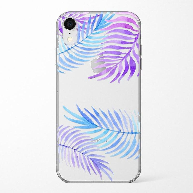 Tropical Blue Palm Leaves iPhone Case iPhone Case Get.Casely Classic iPhone XR