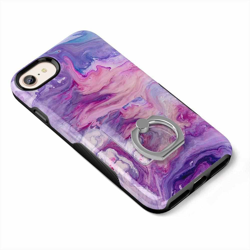 Tie Dying Over You Purple Marble Phone Ring