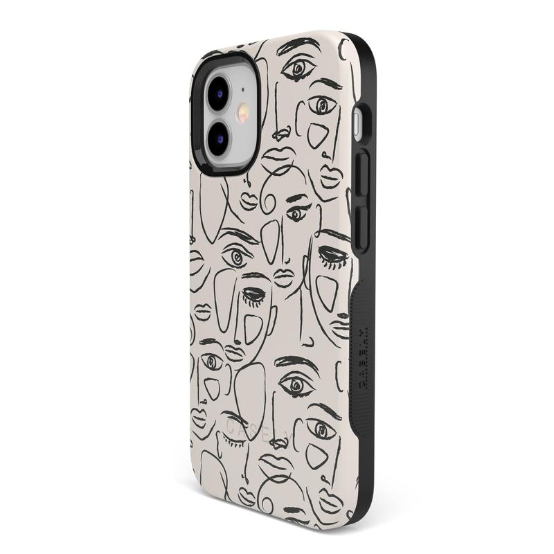 We're All Human | Minimal Face Art Case iPhone Case get.casely