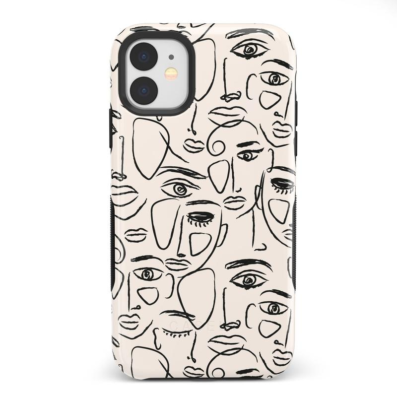 We're All Human | Minimal Face Art Case iPhone Case get.casely Bold iPhone 11