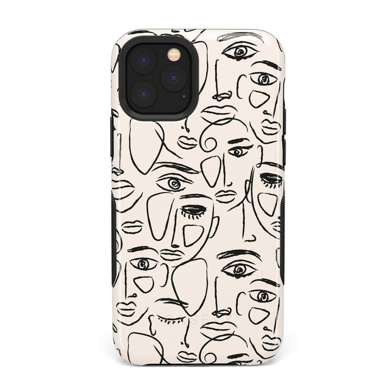 We're All Human | Minimal Face Art Case iPhone Case get.casely Bold iPhone 11 Pro Max