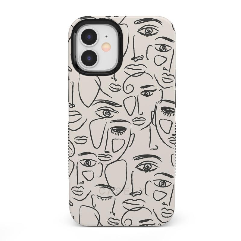We're All Human | Minimal Face Art Case iPhone Case get.casely Bold iPhone 12